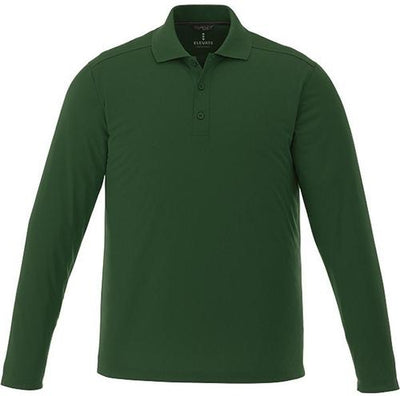 Elevate-MORI Long Sleeve Polo-S-Forest Green-Thread Logic