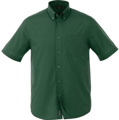 Elevate-COLTER Oxford Short Sleeve Dress Shirt-S-Forest Green-Thread Logic