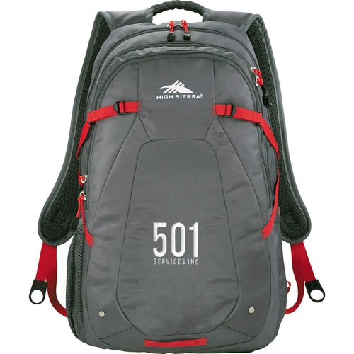 "Elevate-High Sierra Fallout 17"" Computer Backpack-Grey-Thread Logic"