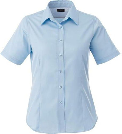 Elevate-Ladies STIRLING Short Sleeve Dress Shirt-XS-Frost Blue-Thread Logic