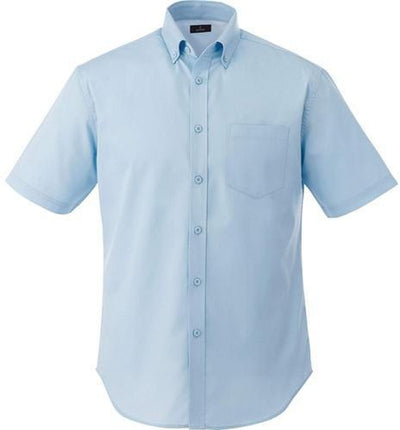 Elevate-STIRLING Short Sleeve Dress Shirt-S-Frost Blue-Thread Logic