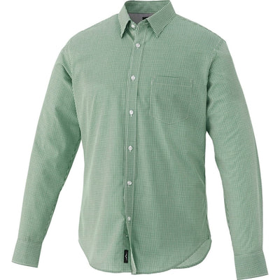 Elevate-QUINLAN Long Sleeve Dress Shirt-S-Juniper Leaf-Thread Logic