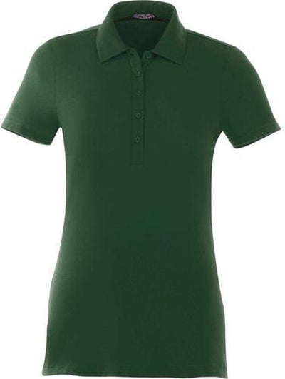 Elevate-Ladies ACADIA Short Sleeve Polo-S-Forest Green-Thread Logic
