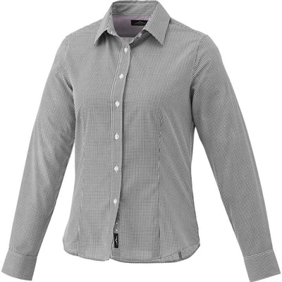 Elevate-Ladies QUINLAN Long Sleeve Dress Shirt-S-Grey Storm-Thread Logic