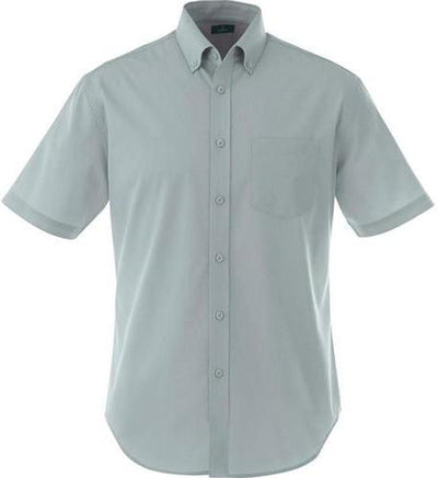 Elevate-STIRLING Short Sleeve Dress Shirt-S-Grey-Thread Logic