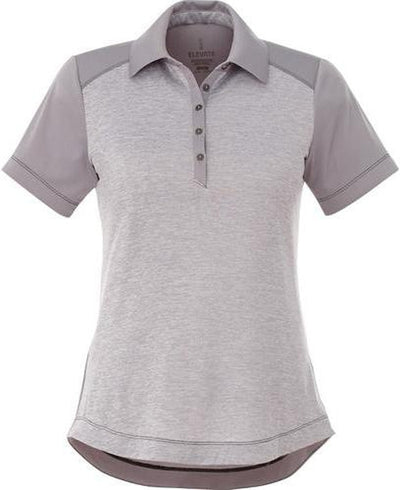 Elevate-Ladies SAGANO Short Sleeve Polo-S-Heather Grey-Thread Logic