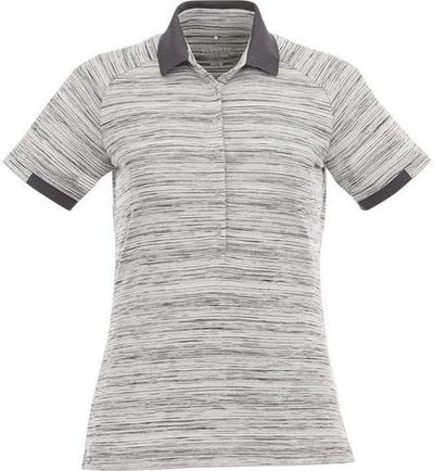 Elevate-Ladies EMORY Short Sleeve Polo-S-Heather Grey-Thread Logic