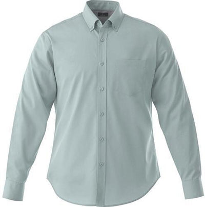 Elevate-WILSHIRE Long Sleeve Dress Shirt-S-Grey-Thread Logic