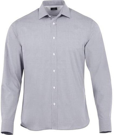 Elevate-THRUSTON Long Sleeve Dress Shirt-S-Grey Storm-Thread Logic