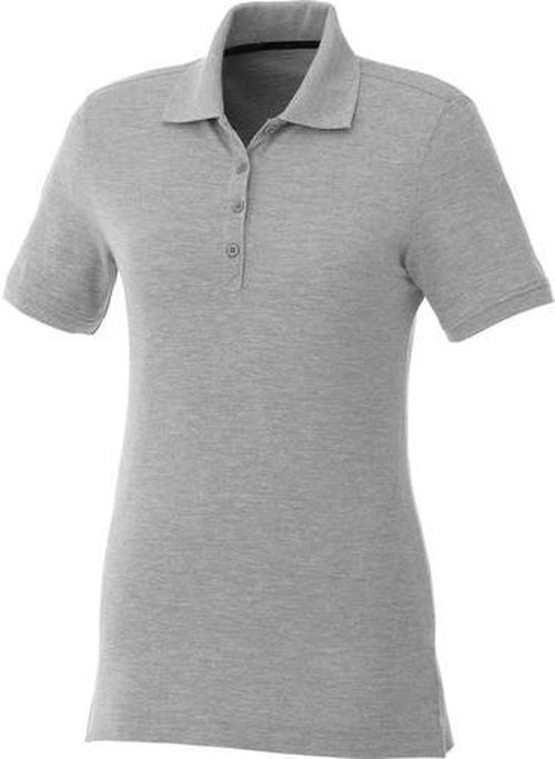 Elevate-Ladies CRANDALL Short Sleeve Polo-S-Heather Grey-Thread Logic