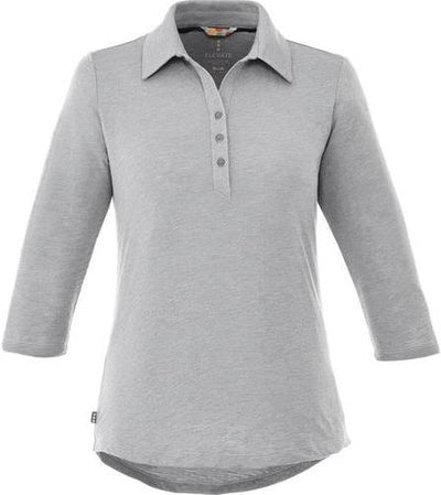 Elevate-Ladies TIPTON Short Sleeve Polo-S-Heather Grey-Thread Logic