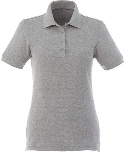 Elevate-Ladies BELMONT Short Sleeve Polo-XS-Heather Grey-Thread Logic