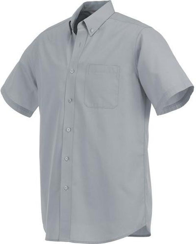 Elevate-COLTER Oxford Short Sleeve Dress Shirt-S-Grey-Thread Logic