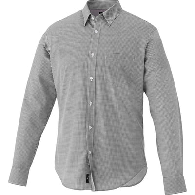 Elevate-QUINLAN Long Sleeve Dress Shirt-S-Grey Storm-Thread Logic