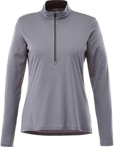 Elevate-Ladies VEGA Tech Half Zip-XS-Steel Grey-Thread Logic