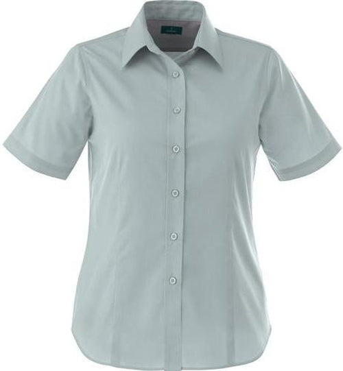 Elevate-Ladies STIRLING Short Sleeve Dress Shirt-XS-Grey-Thread Logic