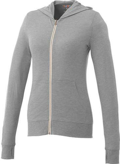 Elevate-Ladies GARNER Full Zip Hoody-XS-Heather Grey-Thread Logic