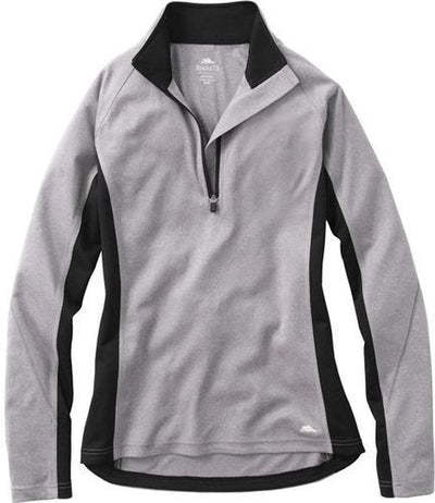 Ladies Roots73 Birchlake Tech 1/4 Zip-XS-Medium Grey-Thread Logic