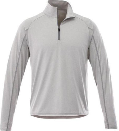 Elevate-TAZA Quarter Zip-S-Silver Heather-Thread Logic