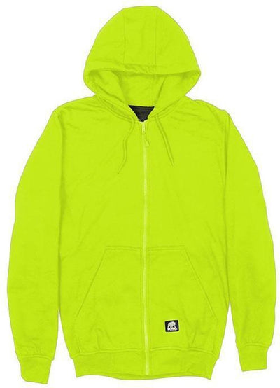 Berne Hi-Vis Class 3 Lined Full-Zip Hooded Sweatshirt
