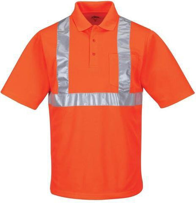 Tri Mountain-Boundary Reflective Polo-S-OSHA Orange-Thread Logic