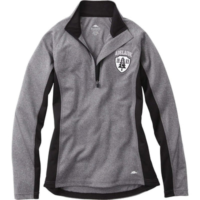 Ladies Roots73 Birchlake Tech 1/4 Zip-Thread Logic no-logo