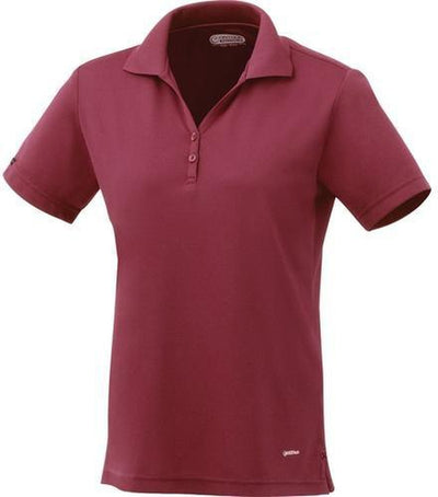 Elevate-Ladies MORENO Short Sleeve Polo-XS-Maroon-Thread Logic