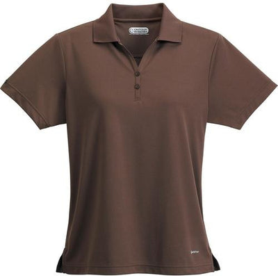 Elevate-Ladies MORENO Short Sleeve Polo-XS-Mocha-Thread Logic