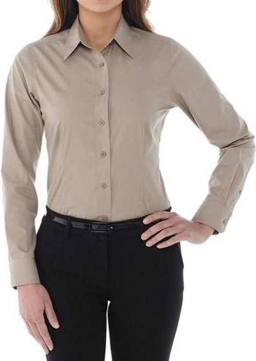 Elevate-Ladies PRESTON Long Sleeve Dress Shirt-XS-Navy-Thread Logic