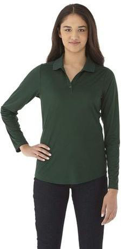Elevate-Ladies MORI Long Sleeve Polo-XS-Forest Green-Thread Logic