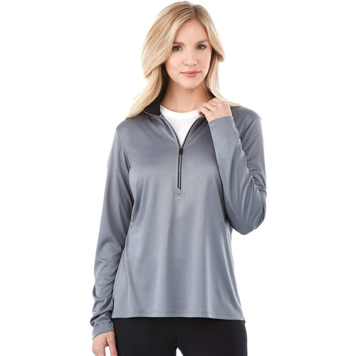 Elevate-Ladies VEGA Tech Half Zip-XS-Black-Thread Logic