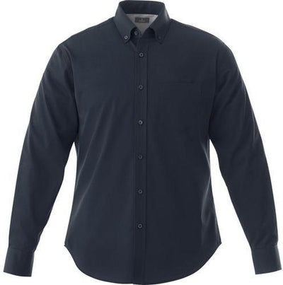 Elevate-WILSHIRE Long Sleeve Dress Shirt-S-Navy-Thread Logic