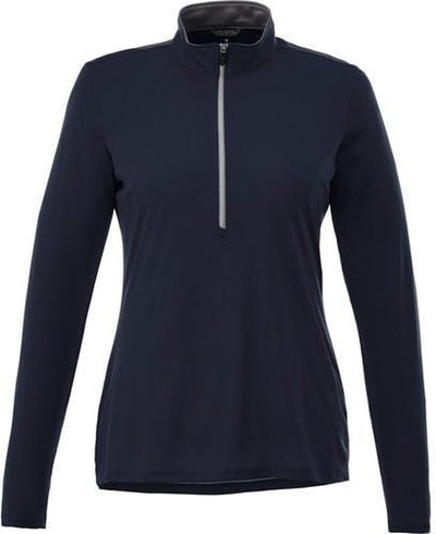 Elevate-Ladies VEGA Tech Half Zip-XS-Navy-Thread Logic