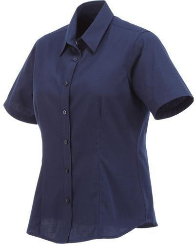 Elevate-Ladies COLTER Oxford Short Sleeve Dress Shirt-XS-Navy-Thread Logic