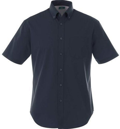 Elevate-STIRLING Short Sleeve Dress Shirt-S-Navy-Thread Logic