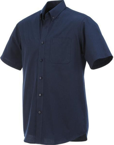 Elevate-COLTER Oxford Short Sleeve Dress Shirt-S-Navy-Thread Logic