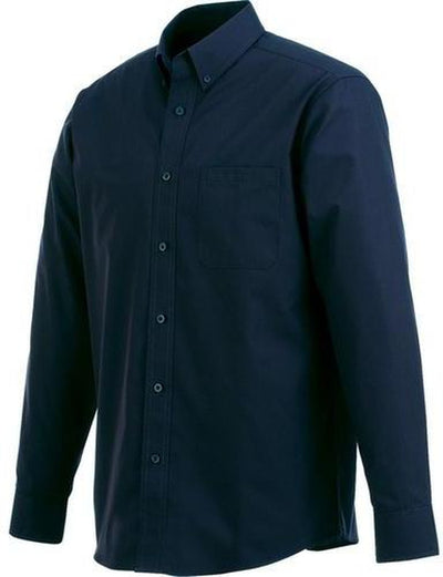 Elevate-PRESTON Long Sleeve Dress Shirt-S-Navy-Thread Logic