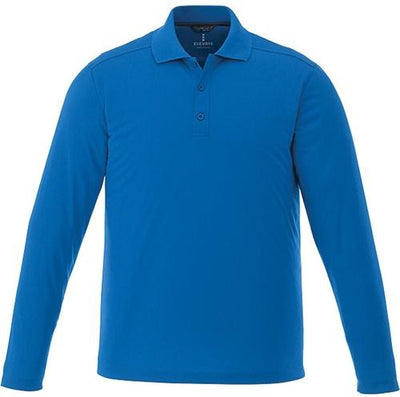 Elevate-MORI Long Sleeve Polo-S-Olympic Blue-Thread Logic