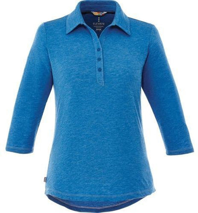 Elevate-Ladies TIPTON Short Sleeve Polo-S-Olympic Blue Heather-Thread Logic