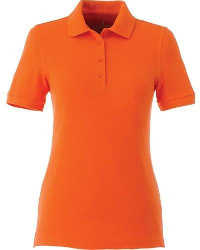 Elevate-Ladies BELMONT Short Sleeve Polo-XS-Orange-Thread Logic