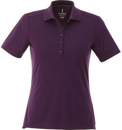 Elevate-Ladies DADE Short Sleeve Polo-S-Dark Plum-Thread Logic