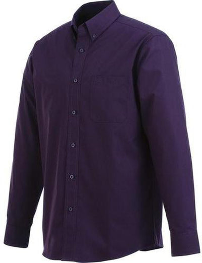 Elevate-PRESTON Long Sleeve Dress Shirt-S-Dark Plum-Thread Logic