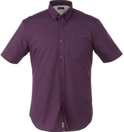 Elevate-STIRLING Short Sleeve Dress Shirt-S-Dark Plum-Thread Logic
