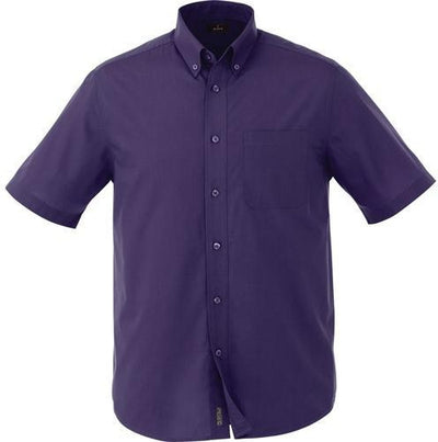 Elevate-COLTER Oxford Short Sleeve Dress Shirt-S-Dark Plum-Thread Logic