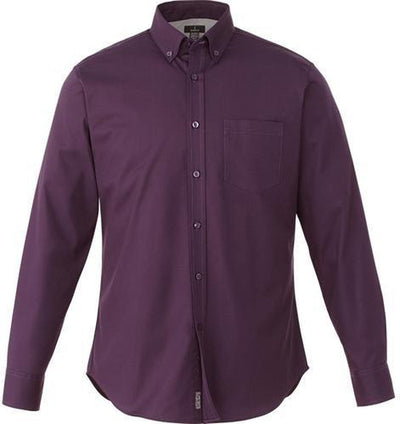 Elevate-WILSHIRE Long Sleeve Dress Shirt-S-Dark Plum-Thread Logic