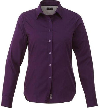 Elevate-Ladies WILSHIRE Long Sleeve Dress Shirt-XS-Dark Plum-Thread Logic