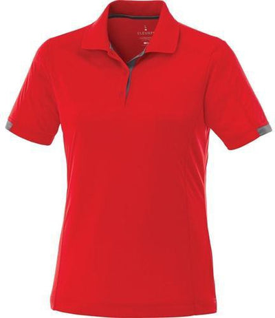 Elevate-Ladies KISO Short Sleeve Polo-S-Red/Steel Grey-Thread Logic