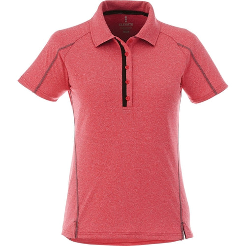 Elevate-Ladies MACTA Short Sleeve Polo-XS-Team Red Heather-Thread Logic