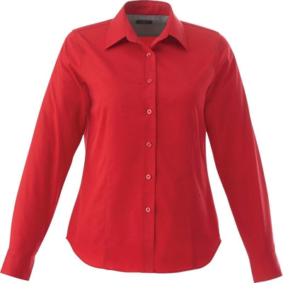 Elevate-Ladies WILSHIRE Long Sleeve Dress Shirt-XS-Team Red-Thread Logic