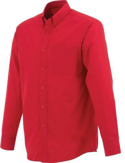 Elevate-PRESTON Long Sleeve Dress Shirt-S-Team Red-Thread Logic